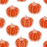 Halloween seamless pattern with pumpkins Stock Photos