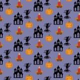 Halloween seamless pattern Royalty Free Stock Photo