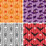 Halloween seamless pattern set Stock Photography