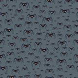 Halloween seamless pattern with spiders Stock Photo