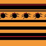 Halloween seamless pattern with spiders Royalty Free Stock Photography