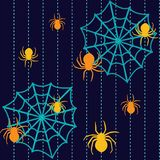 Halloween seamless pattern with spiders Royalty Free Stock Image