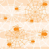 Halloween seamless pattern with spiders Royalty Free Stock Photo
