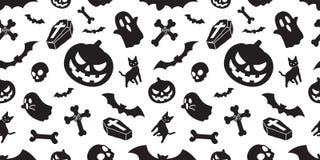 Free Halloween Seamless Pattern Spooky Vector Pumpkin Bat Ghost Dracula Coffin Skull Bone Scarf Isolated Illustration Tile Background W Stock Photo - 126743310