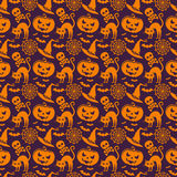 Halloween seamless pattern. Vector background. Royalty Free Stock Images