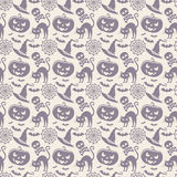 Halloween seamless pattern. Vector background. Royalty Free Stock Photography