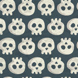 Halloween Seamless Pattern With Spooky Monsters, Ghosts And Skulls Royalty Free Stock Photo