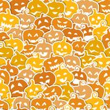 Halloween seamless pattern with yellow and orange Royalty Free Stock Photography