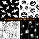 Halloween seamless patterns collection Royalty Free Stock Photos