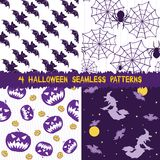Halloween seamless patterns collection Royalty Free Stock Image