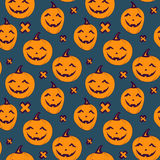 Halloween seamless patterns Royalty Free Stock Photos