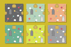 Halloween Seamless Patterns with Pumpkins. Seamless Patterns with Pumpkins. Halloween Vector Background Stock Images