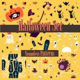 Halloween Seamless Patterns stock photos