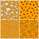 Halloween seamless patterns Royalty Free Stock Photo