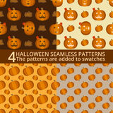 Halloween seamless patterns Stock Image
