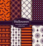 Halloween Seamless Patterns. Vector Set. Stock Photography