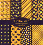 Halloween seamless patterns. Vector set. Stock Photos