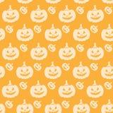 Halloween Seamless Pumpkin Pattern Orange Royalty Free Stock Photos