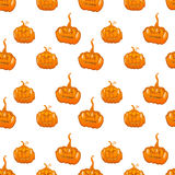 Halloween seamless pumpkin vector background Royalty Free Stock Photo