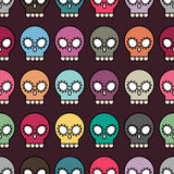 Halloween seamless skull pattern Royalty Free Stock Photos