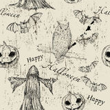 Halloween seamless texture Royalty Free Stock Image