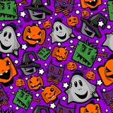 Halloween, seamless texture vector illustration