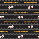 Halloween seamless with traditional symbols icons. Vector. Royalty Free Stock Images