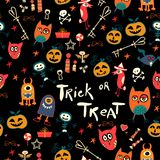 Halloween Seamless trick-or-treat pattern Royalty Free Stock Photography