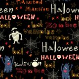 Halloween seamless trick-or-treat pattern. Royalty Free Stock Photography