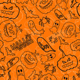 Halloween seamless vector background Royalty Free Stock Photo