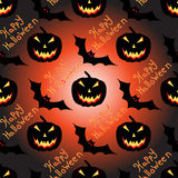 Halloween seamless vector pattern background wallpaper Royalty Free Stock Photos