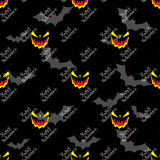 Halloween seamless vector pattern background wallpaper Royalty Free Stock Photography