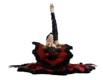 halloween Seksowna młoda dziewczyna ubierająca jako diabeł Fotografia Stock