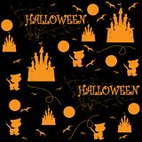 Halloween senza giunte Illustrazione di vettore Fotografie Stock