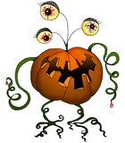 Halloween series - pumpkin monster Stock Images