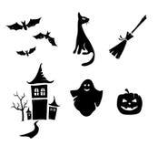 Halloween set. Vector illustration - a set of objects on the theme Halloween stock illustration