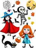 Halloween set Royalty Free Stock Photography