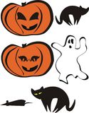 Halloween set 2 Royalty Free Stock Photos