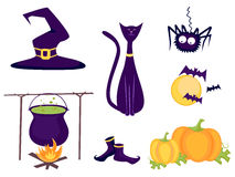 halloween set Royaltyfria Foton