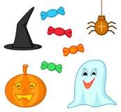halloween set stock illustrationer
