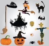 Halloween set. Halloween icon set,illustration background Royalty Free Stock Image