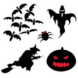Halloween set. Of vector silhouettes Stock Photography