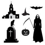 Halloween_set Photos libres de droits