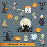 Halloween set 3 Royalty Free Stock Photo