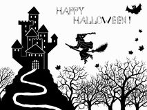Halloween set with castle Royalty Free Stock Images
