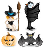 Halloween set. Characters. Stock Photos