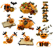 Halloween set with decorations Royalty Free Stock Photos