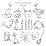 Halloween set of design elements Stock Images