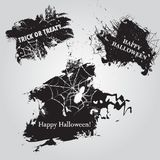 Halloween set, drawn Halloween symbols in vintage style Stock Photos