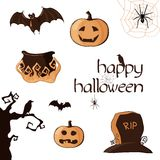Halloween set of element. Vector illustration Royalty Free Stock Image